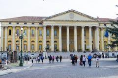 Verona-Rathaus n Marktplatz-BH, Verona Italy lizenzfreie stockbilder