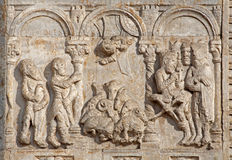 Verona - Relief of Adoration of Magi - San Zeno Royalty Free Stock Photo