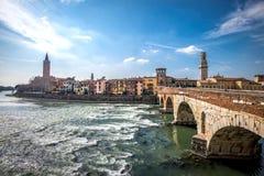Verona river cityscape, Italy Royalty Free Stock Images