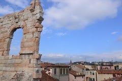 Verona and Roman Arena - Italy Royalty Free Stock Photos