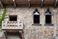 Verona, Romeo y Juliet Balcony imagen de archivo