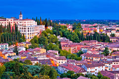Verona rooftops and Opera Don Calabria evening view. Veneto region of Italy stock photo