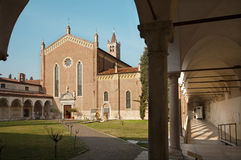 Verona - San Bernardino church Royalty Free Stock Images