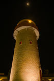 Verona shopping   brick tower   night Stock Photos