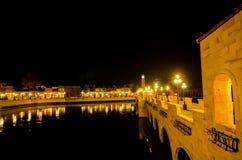 Verona shopping   stone bridge Stock Image