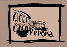 Verona sketch Stock Photo