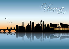 Verona skyline - Italy -  illustration Stock Image
