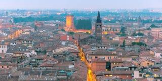 Verona skyline at night, Italy Royalty Free Stock Photos