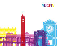 Verona skyline pop Stock Photography