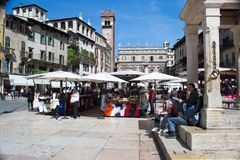 Verona,square of grass Royalty Free Stock Photos