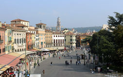 Verona. Square in old Verona, Italy Stock Photography