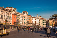 Verona square - Piazza Bra Royalty Free Stock Photography