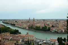 Verona-Stadtanblick Lizenzfreies Stockbild