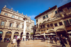 Verona streets by day Royalty Free Stock Photo