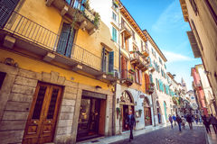 Verona streets by day Royalty Free Stock Photos