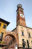 Verona, Torre dei Lamberti royalty free stock photography
