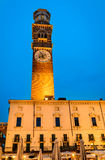 Verona, Torre dei Lamberti twilight Royalty Free Stock Photos