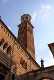 Verona tower. Ancient Verona tower (Torre dei Lamberti), Italy Royalty Free Stock Image