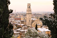 Verona under vinter - Italien Royaltyfri Foto