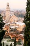 Verona under vinter - Italien Royaltyfri Foto