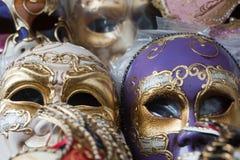 Verona (Véneto, Italy), máscaras em um mercado Fotografia de Stock