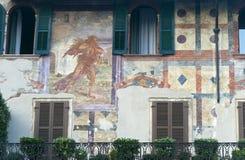 Verona (Veneto, Italië), Piazza Erbe stock fotografie