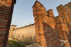 Verona (Veneto, Italien), mittelalterliche Brücke Stockfotos