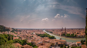 Verona view from Castel San Pietro. Panorama in Verona, Italy, in May, 2015, during a family trip. Main view over the city from Castel San Pietro Stock Image