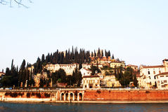 Verona view. From one side bank royalty free stock images