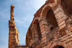 """Verona, Włochy †""""Marzec 2019 Aren di Verona Antyczny rzymski amphitheatre w Verona, Włochy wymieniali jako UNESCO świat zdjęcia royalty free"""