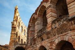 """Verona, Włochy †""""Marzec 2019 Aren di Verona Antyczny rzymski amphitheatre w Verona, Włochy wymieniali jako UNESCO świat obraz stock"""