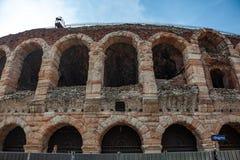 """Verona, Włochy †""""Marzec 2019 Aren di Verona Antyczny rzymski amphitheatre w Verona, Włochy wymieniali jako UNESCO świat obrazy royalty free"""