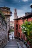 VERONA Włochy, Kwiecień, - 04, 2017: Pejzaż miejski Verona, Veneto Fotografia Stock