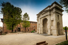 VERONA Włochy, Kwiecień, - 04, 2017: Pejzaż miejski Verona, Veneto Obraz Royalty Free