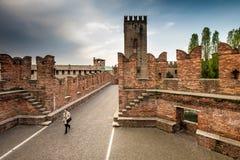 VERONA Włochy, Kwiecień, - 04, 2017: Pejzaż miejski Verona, Veneto Obrazy Royalty Free