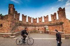 VERONA Włochy, Kwiecień, - 04, 2017: Pejzaż miejski Verona, Veneto Zdjęcia Royalty Free