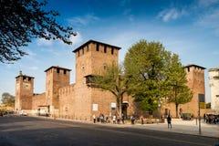 VERONA Włochy, Kwiecień, - 04, 2017: Pejzaż miejski Verona, Veneto Fotografia Royalty Free