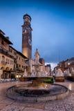VERONA Włochy, Kwiecień, - 04, 2017: Pejzaż miejski Verona, Veneto Zdjęcia Stock
