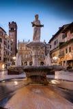 VERONA Włochy, Kwiecień, - 04, 2017: Pejzaż miejski Verona, Veneto Zdjęcie Stock