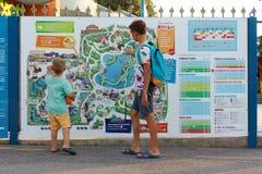 Verona, Włochy Sierpień 18, 2018: Leoland park rozrywki Ewidencyjna karta park obrazy stock