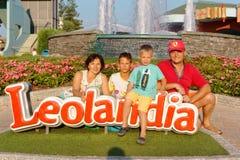 Verona, Włochy Sierpień 18, 2018: Leoland park rozrywki rodzinna fotografia w leolandia obraz royalty free