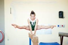 Verona Włochy, Sierpień, - 24, 2017: Trenować dzieci w gimnastyki sekci zdjęcie stock