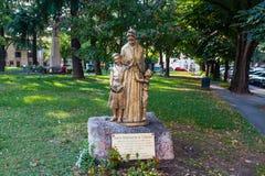 VERONA, WŁOCHY Wrzesień 08, 2016: Statua Santa Maddalena Di Canossa w Verona St Magdalene Canossa, 1774†'1835 był Ja Fotografia Royalty Free