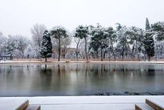 Verona in Winter with Snow - Veneto Italy Royalty Free Stock Photos