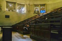 Veronachtzaamd Universitair Leeg Amfitheater royalty-vrije stock foto's