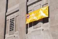 Veronderstel een Toekomst Vrij van Kanongeweld, NYC, NY, de V.S. royalty-vrije stock foto's