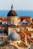 Veronderstellingskathedraal, Kerk van Heilige Blaise in het oude deel in Dubrovnik, Kroatië Royalty-vrije Stock Afbeeldingen