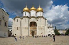 Veronderstellingskathedraal van Moskou het Kremlin, Russi stock afbeelding