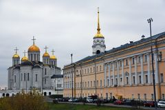 Veronderstellingskathedraal in Vladimir, Rusland royalty-vrije stock afbeelding