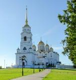 Veronderstellingskathedraal, Vladimir, Rusland Royalty-vrije Stock Afbeeldingen